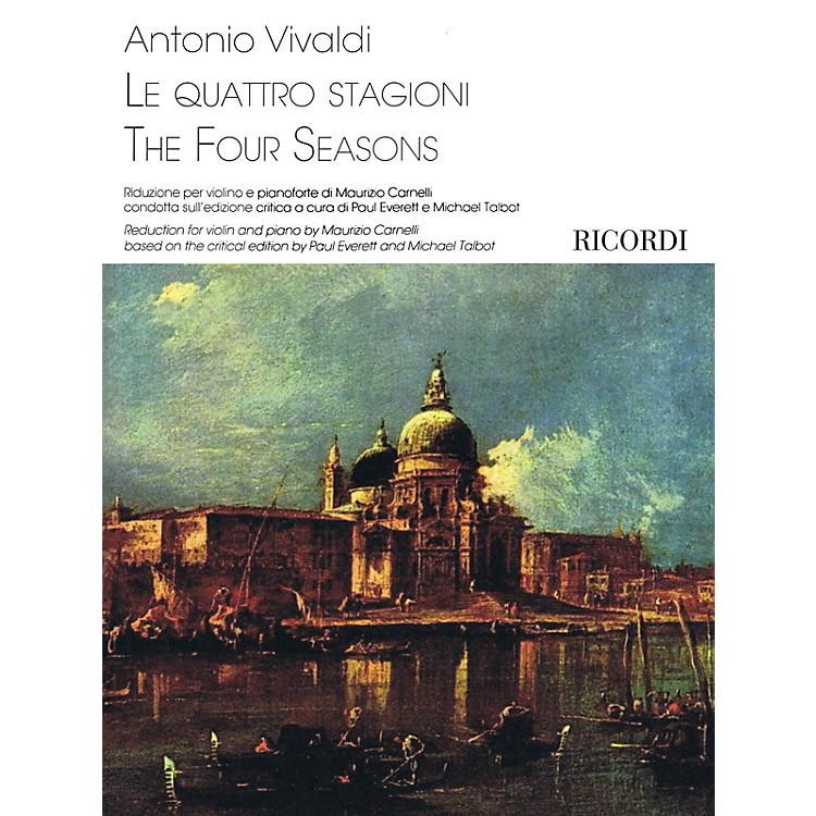 RicordiThe Four Seasons Ricordi Series Softcover Composed by Antonio Vivaldi Edited by Maurizio Carnelli