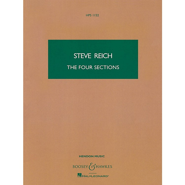 Boosey and HawkesThe Four Sections (Study Score) Boosey & Hawkes Scores/Books Series Composed by Steve Reich