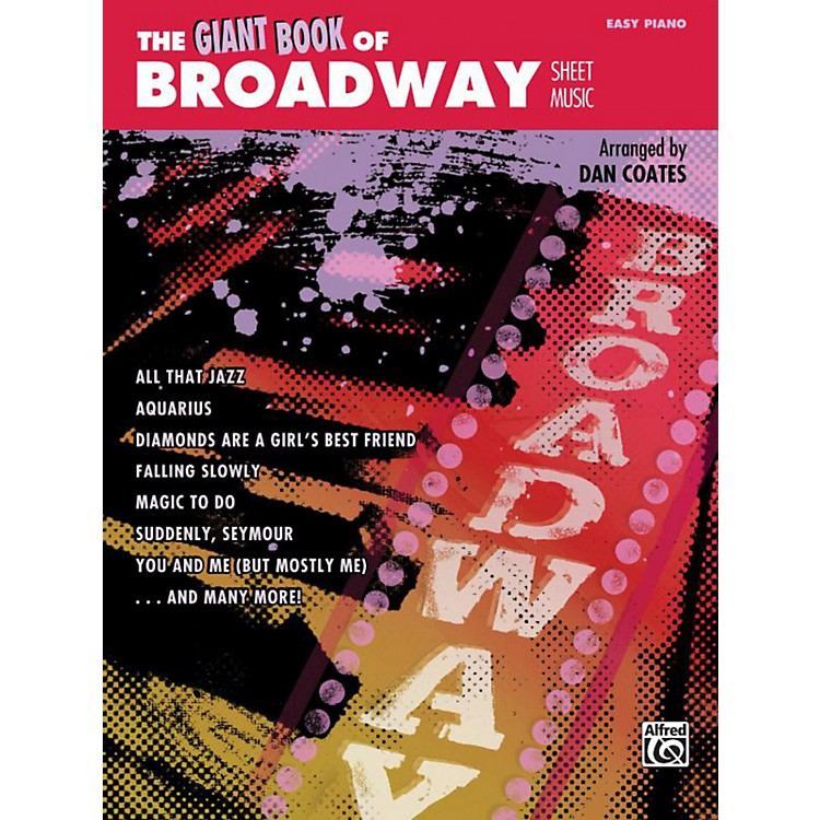 Alfred The Giant Book of Broadway Sheet Music Easy Piano Book