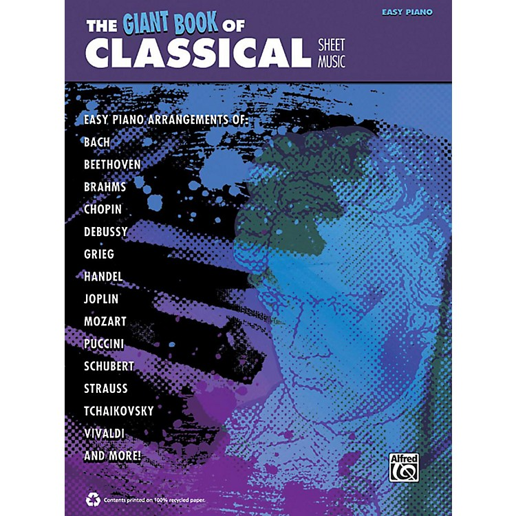 Alfred The Giant Book of Classical Sheet Music Easy Piano Book