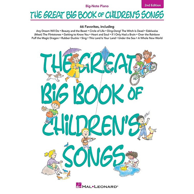 Hal LeonardThe Great Big Book of Children's Songs - 2nd Edition Big Note Piano Songbook