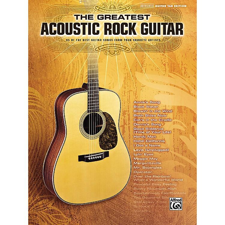 AlfredThe Greatest Acoustic Rock Guitar Book