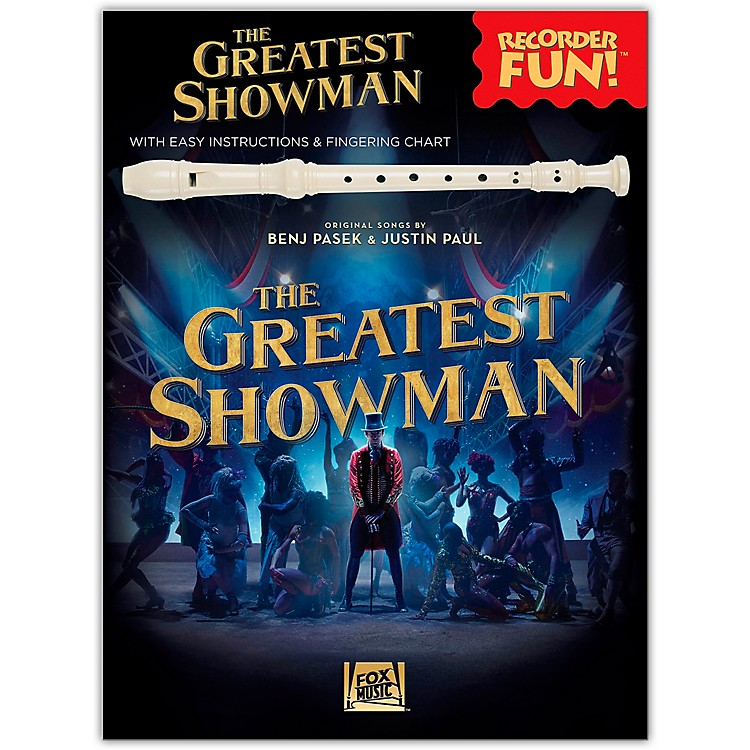 Hal LeonardThe Greatest Showman - Recorder Fun! (with Easy Instructions & Fingering Chart) Recorder Songbook