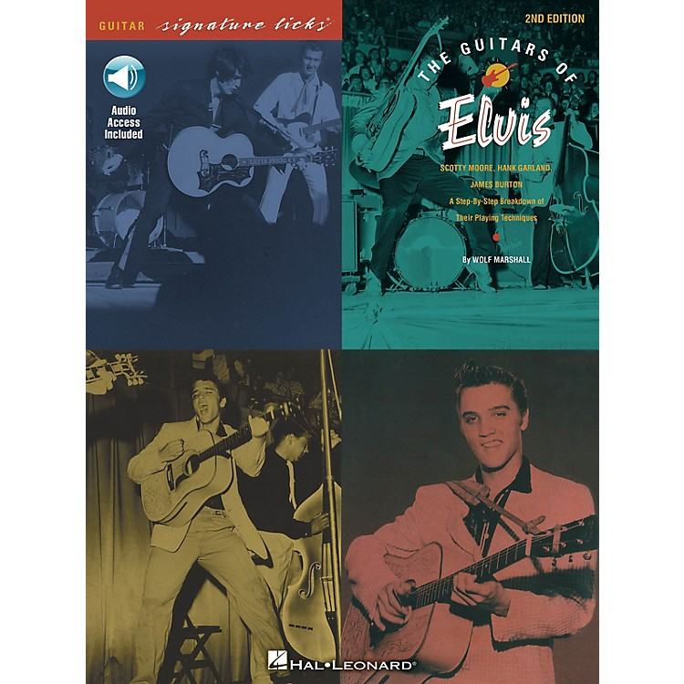 Hal LeonardThe Guitars of Elvis - 2nd Edition Signature Licks Guitar Series Softcover Audio Online by Wolf Marshall