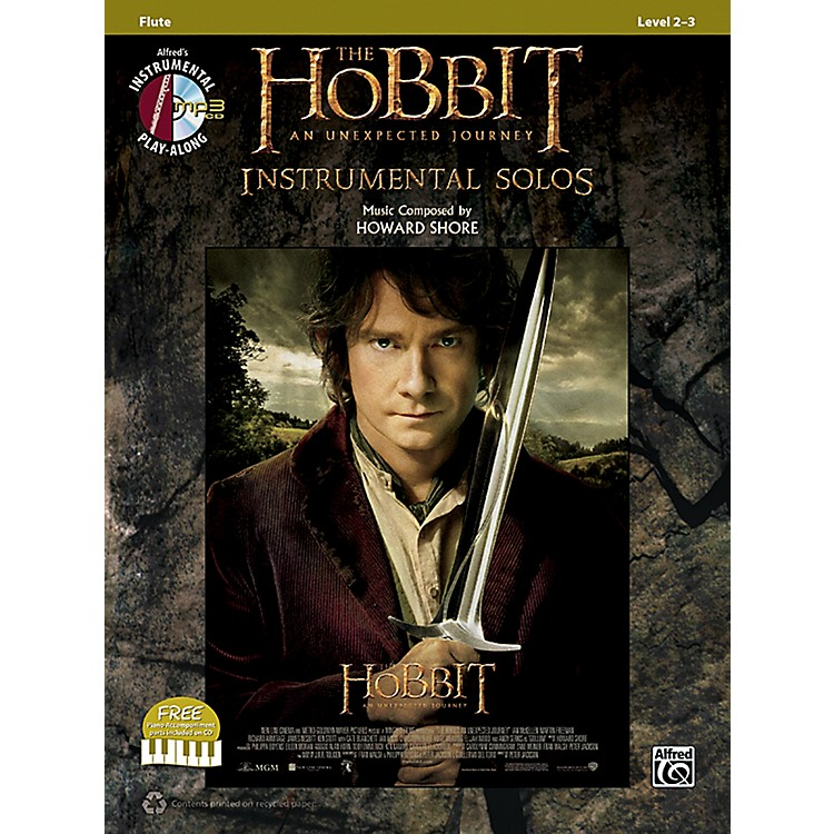 AlfredThe Hobbit: An Unexpected Journey Instrumental Solos Flute (Book/CD)