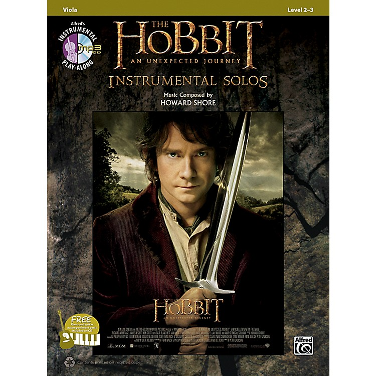 AlfredThe Hobbit: An Unexpected Journey Instrumental Solos for Strings Viola (Book/CD)
