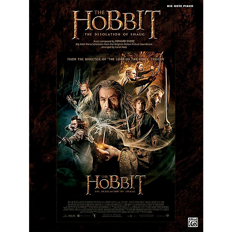 Alfred The Hobbit The Desolation of Smaug Big Note Piano Book