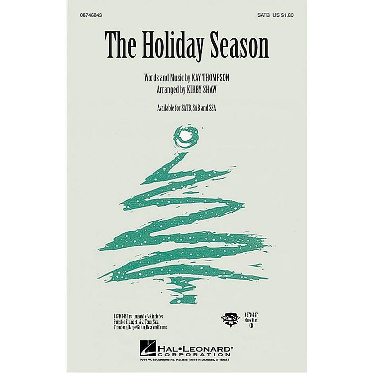 Hal LeonardThe Holiday Season SSA Arranged by Kirby Shaw