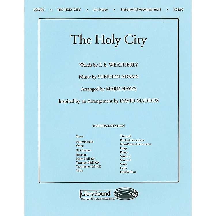 Shawnee Press The Holy City Score & Parts arranged by Mark Hayes
