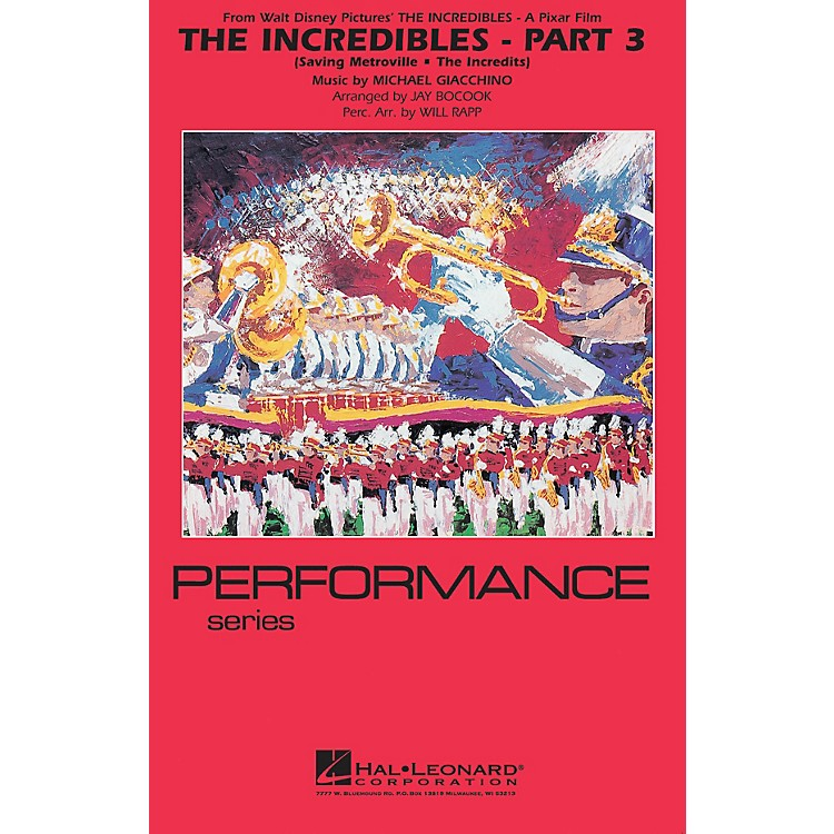 Hal LeonardThe Incredibles - Part 3 Marching Band Level 4 Arranged by Jay Bocook