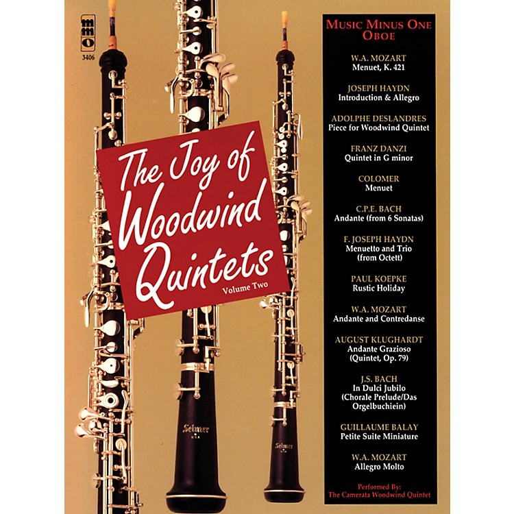 Music Minus One The Joy of Woodwind Quintets - Volume Two Music Minus One Series BK/CD by Various