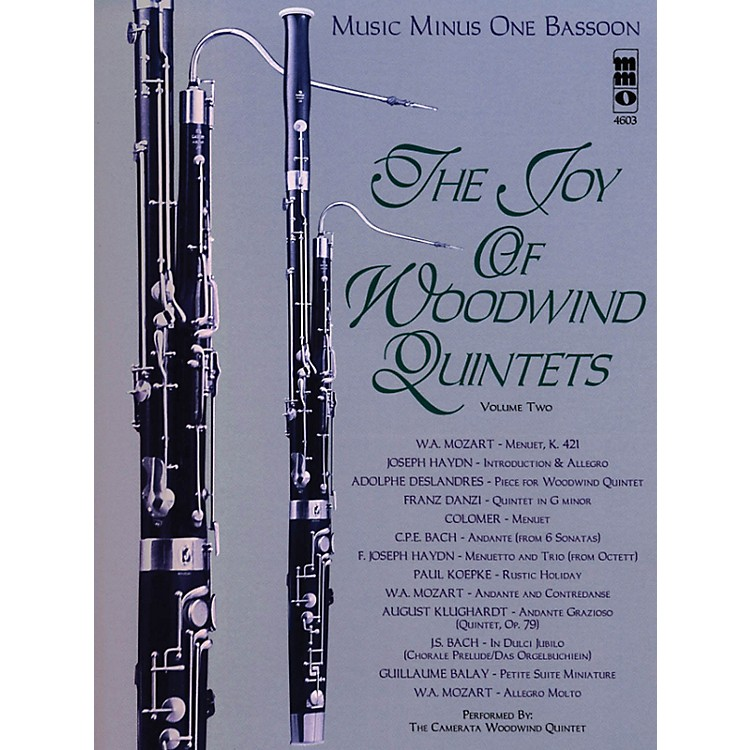 Music Minus OneThe Joy of Woodwind Quintets - Volume Two Music Minus One Series Softcover with CD Composed by Various