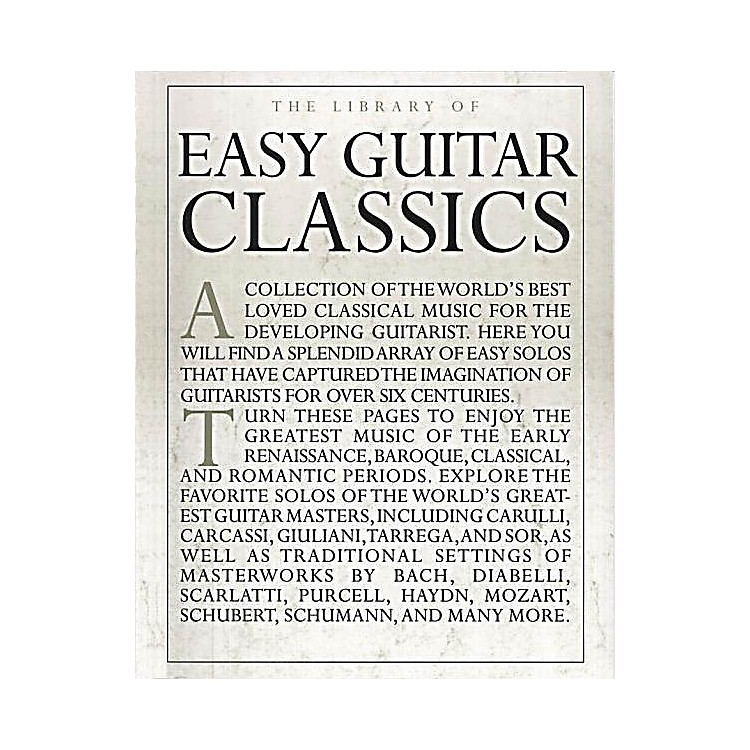 Music Sales The Library of Easy Guitar Classics Music Sales America Series Softcover