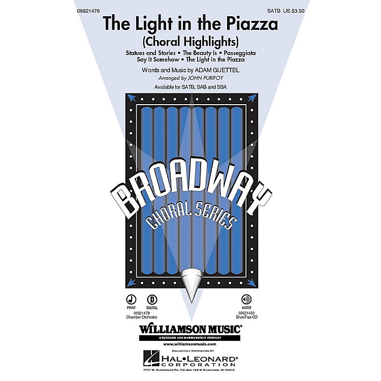 Hal LeonardThe Light in the Piazza (Choral Highlights) SATB arranged by John Purifoy