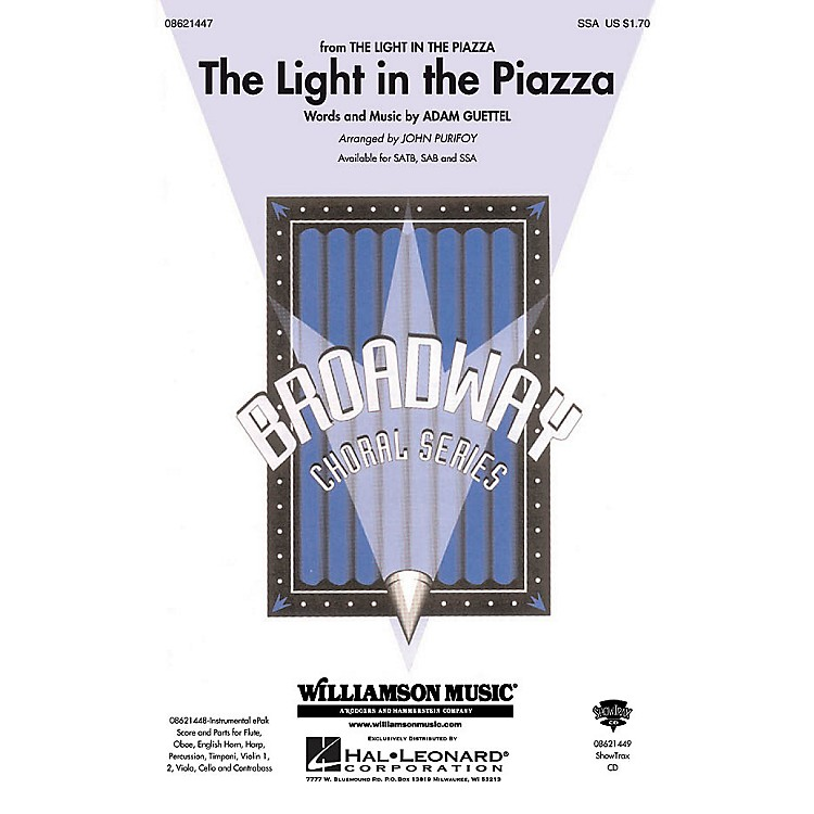 Hal Leonard The Light in the Piazza (from The Light in The Piazza) SSA arranged by John Purifoy