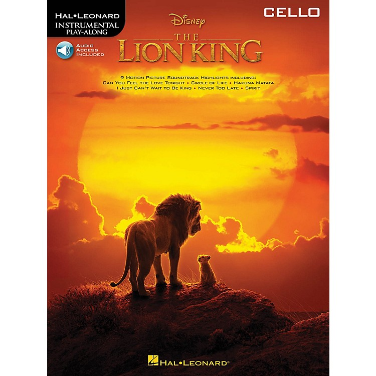 Hal LeonardThe Lion King for Cello Instrumental Play-Along Book/Audio Online