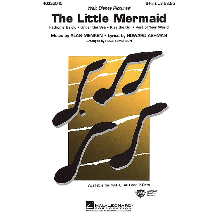 Hal LeonardThe Little Mermaid (Medley) ShowTrax CD Arranged by Roger Emerson