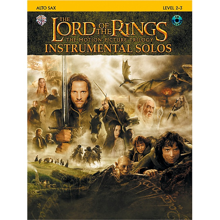 AlfredThe Lord of the Rings Instrumental Solos Alto Sax (Book & CD)