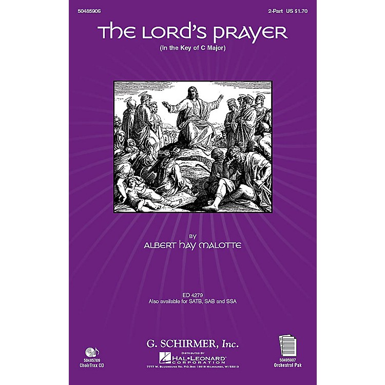 G. SchirmerThe Lord's Prayer (in C, with Orchestra) 2-Part arranged by Janet Day