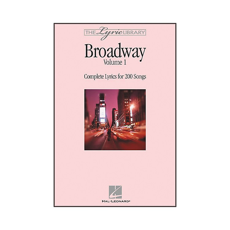 Hal LeonardThe Lyric Library: Broadway Volume 1 Book