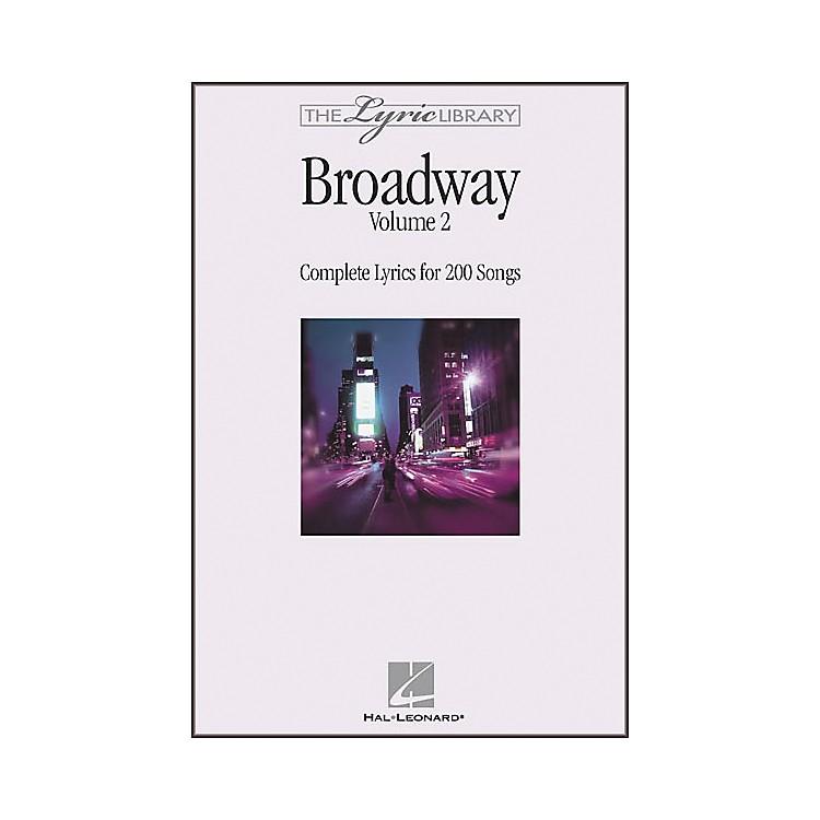 Hal LeonardThe Lyric Library: Broadway Volume 2 Book