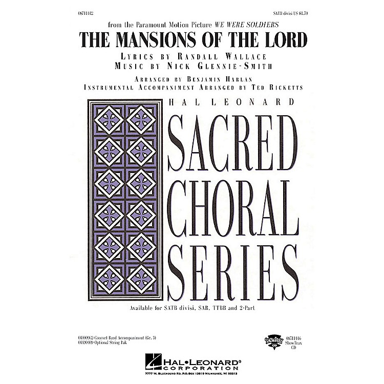 Hal Leonard The Mansions of the Lord (from We Were Soldiers) SATB Divisi arranged by Benjamin Harlan