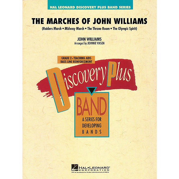 Hal LeonardThe Marches of John Williams - Discovery Plus Band Level 2 arranged by Johnnie Vinson