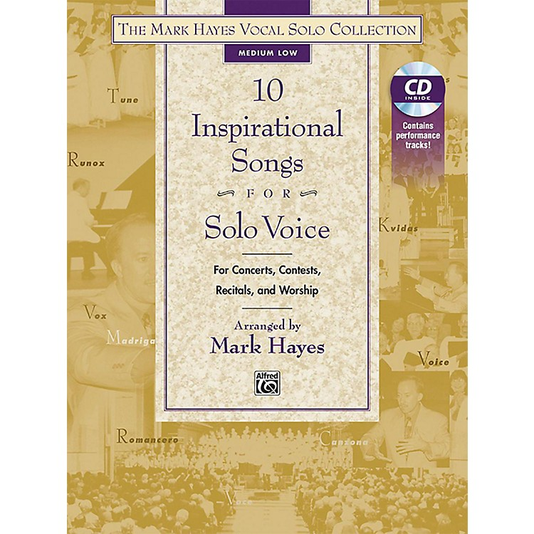 AlfredThe Mark Hayes Vocal Solo Collection 10 Inspirational Sngs Solo Voice Mixed Voicings Listening CD