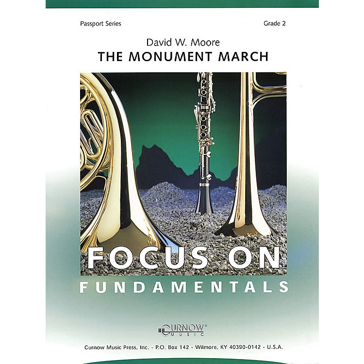 Curnow MusicThe Monument March (Grade 2 - Score Only) Concert Band Level 2 Composed by David Moore