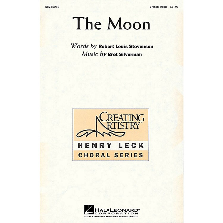 Hal LeonardThe Moon Unison Treble composed by Bret Silverman