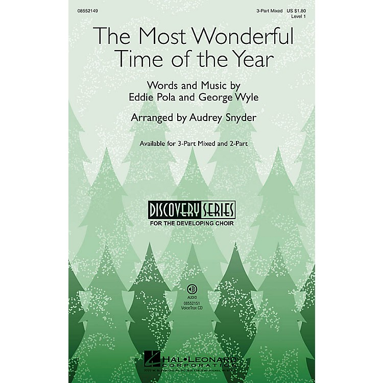 Hal LeonardThe Most Wonderful Time of the Year (Discovery Level 1) VoiceTrax CD Arranged by Audrey Snyder