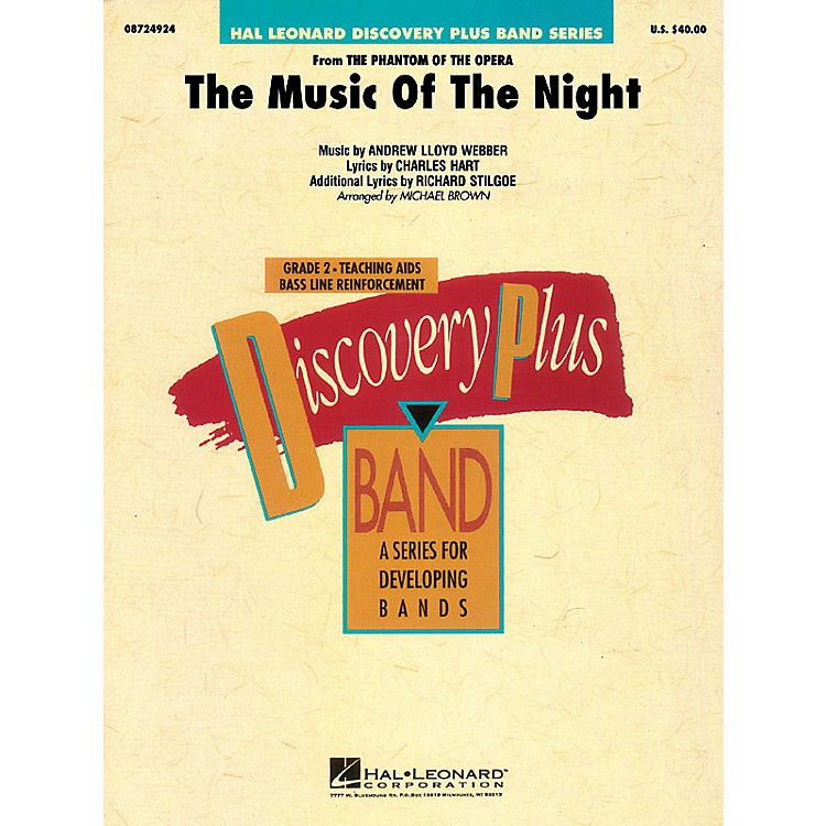 Hal Leonard The Music of the Night - Discovery Plus Concert Band Series Level 2 arranged by Michael Brown