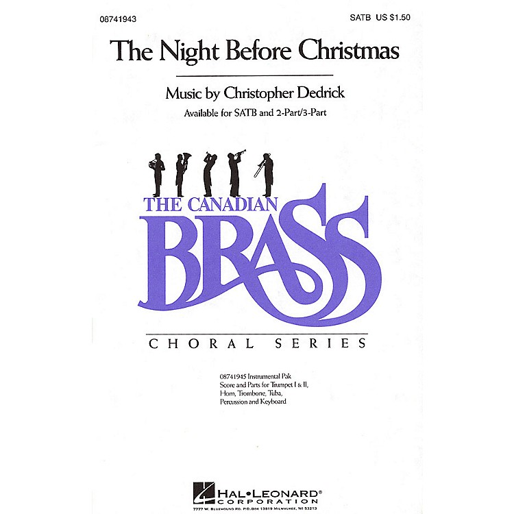 Hal Leonard The Night Before Christmas IPAKB Composed by Christopher Dedrick