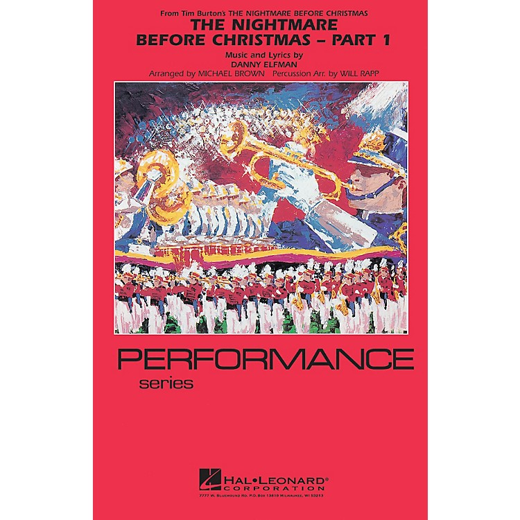 Hal LeonardThe Nightmare Before Christmas - Part 1 Marching Band Level 4 Arranged by Will Rapp