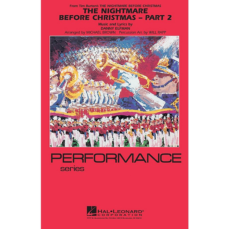 Hal LeonardThe Nightmare Before Christmas - Part 2 Marching Band Level 4 Arranged by Will Rapp