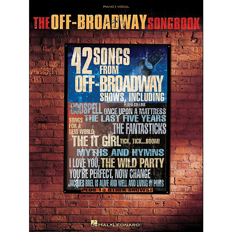 Hal LeonardThe Off-Broadway Songbook arranged for piano, vocal, and guitar (P/V/G)