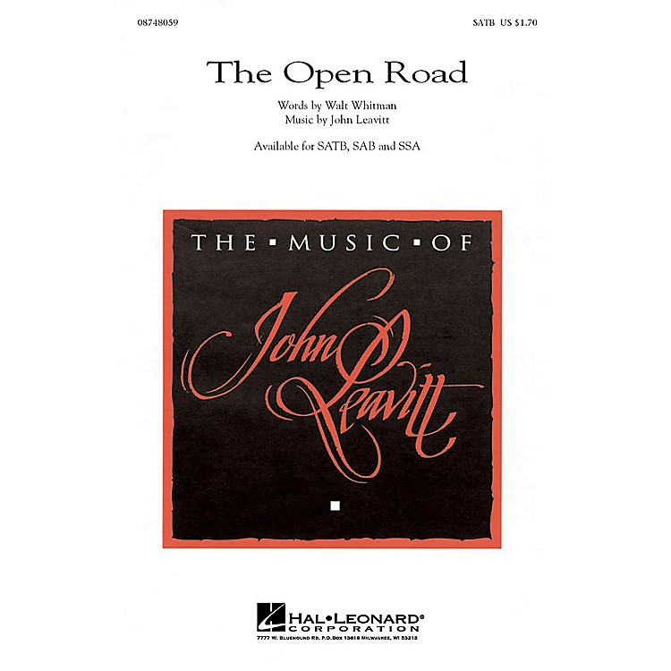 Hal Leonard The Open Road SATB composed by John Leavitt