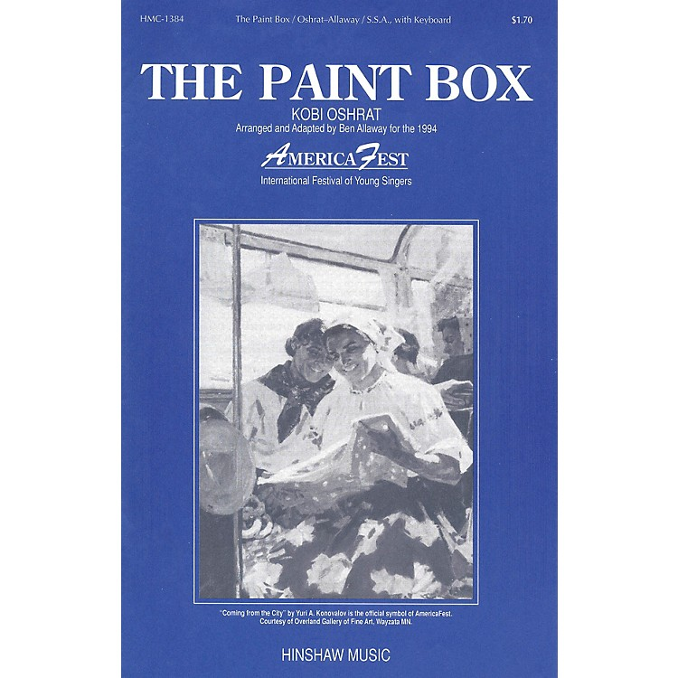 Hinshaw MusicThe Paint Box SSA arranged by Ben Allaway