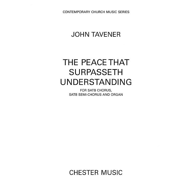 Hal LeonardThe Peace That Surpasseth Understanding For Satb Chorussatb Semi-chorus And Organ by John Tavener