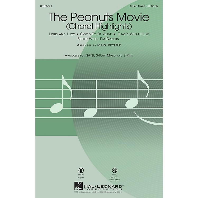 Hal LeonardThe Peanuts Movie (Choral Highlights) SAB arranged by Mark Brymer
