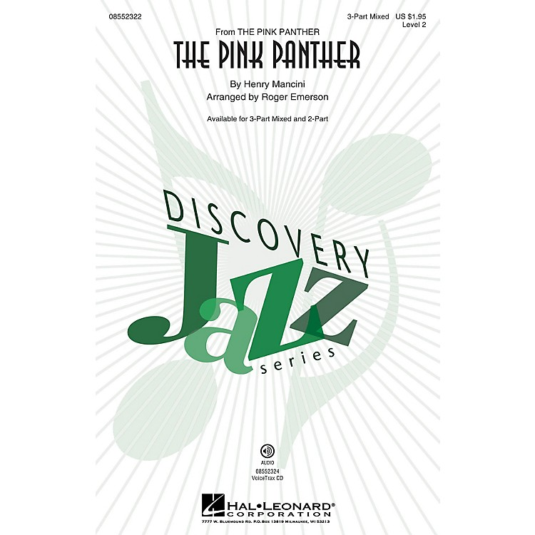 Hal Leonard The Pink Panther (Discovery Level 2) 2-Part Arranged by Roger Emerson