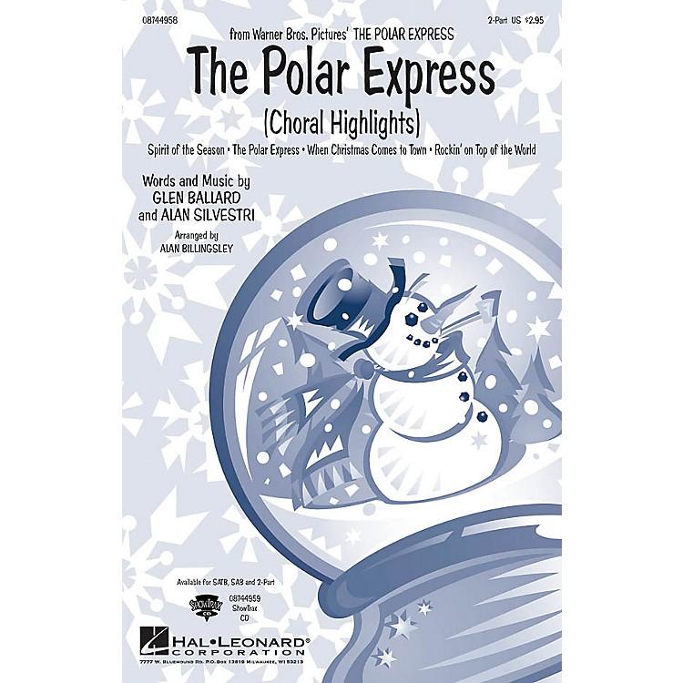 Hal LeonardThe Polar Express (Choral Highlights) 2-Part arranged by Alan Billingsley