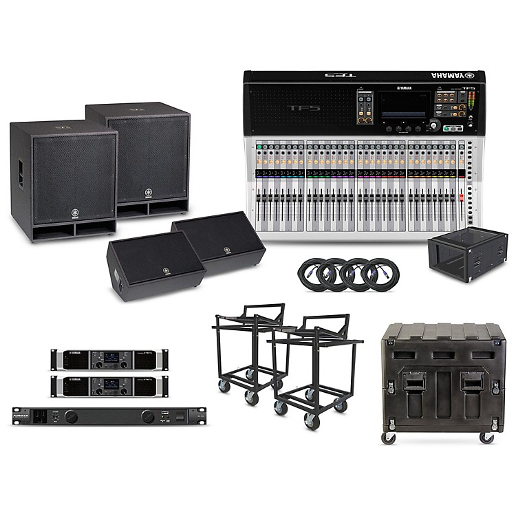 Yamaha The Primary Package - Field PA System with Digital Mixer  With 32-channel mixer