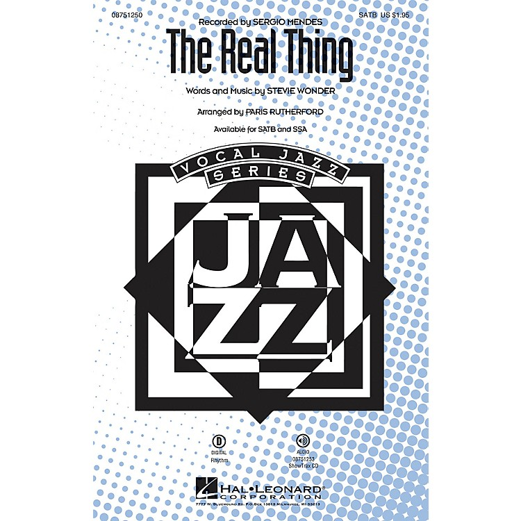 Hal LeonardThe Real Thing ShowTrax CD by Sergio Mendes Arranged by Paris Rutherford