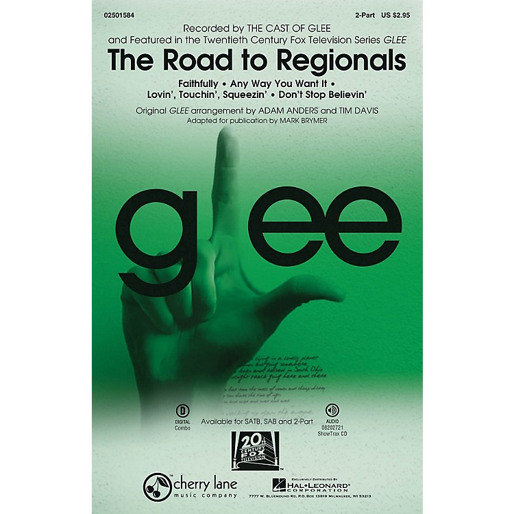 Cherry LaneThe Road to Regionals (Choral Medley) (featured on Glee) 2-Part by Glee Cast arranged by Adam Anders