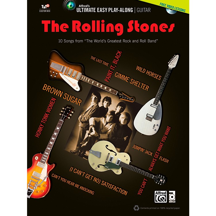 AlfredThe Rolling Stones - Ultimate Easy Guitar Play-Along (Book & DVD)