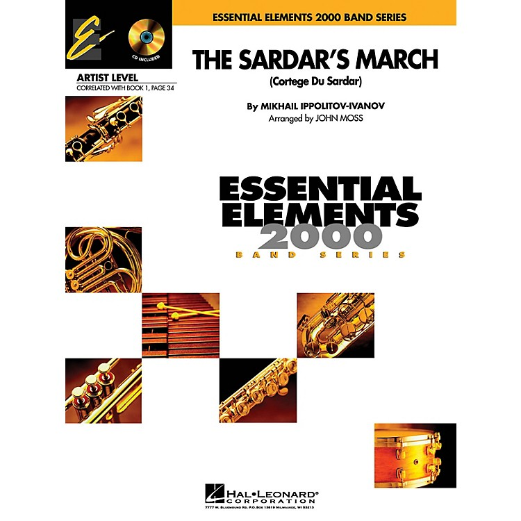Hal Leonard The Sardar's March (Includes Full Performance CD) Concert Band Level 1 Arranged by John Moss