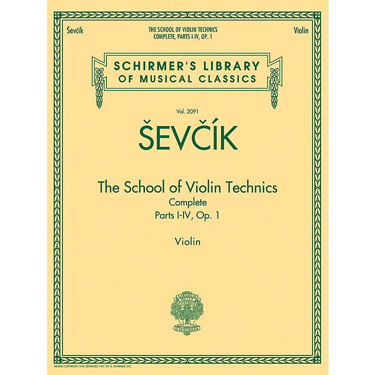 G. SchirmerThe School of Violin Technics Complete, Op. 1 String Series Softcover