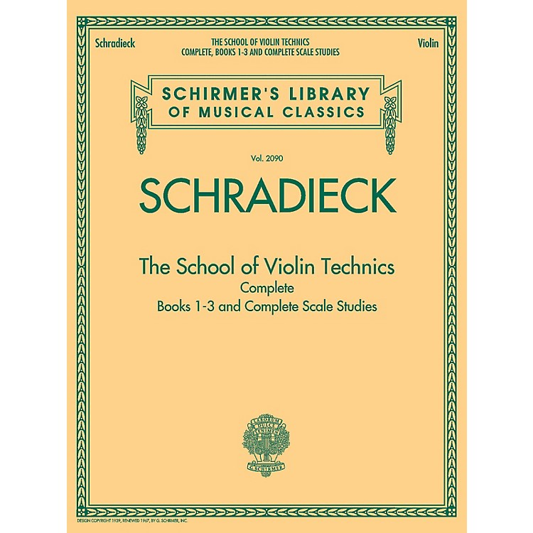 G. Schirmer The School of Violin Technics Complete String Series Softcover
