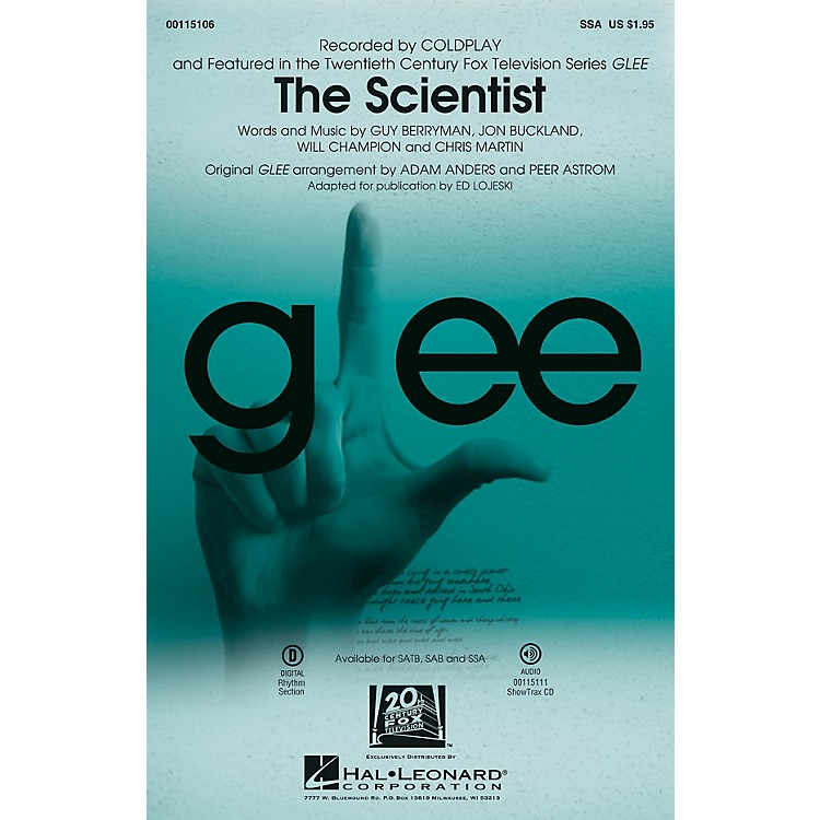 Hal LeonardThe Scientist SSA by Glee Cast arranged by Adam Anders
